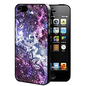 Floral Paisley Pattern with Bright Nebula Background (iPhone 5/5s) Rubber Silicone TPU Cell Phone Case
