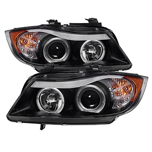 Spyder Auto 5009005 LED Halo Projector Headlights Black/Clear
