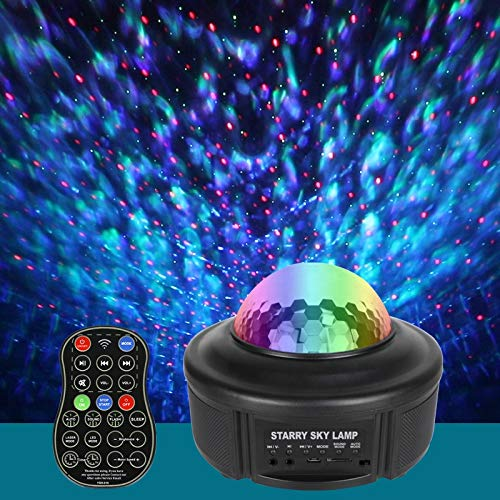 Gyrategirl Night Light Projector Star, Ocean Wave Sky Starry Projector with Bluetooth Music Speaker, Rotating LED Nebula Light for Baby Kids Bedroom Deco Home Theatre/Night Light Ambiance