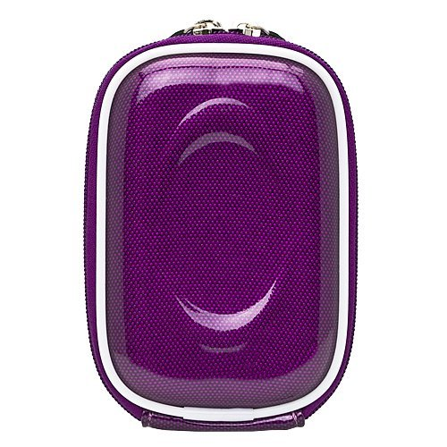 Carbon Fiber Purple Carrying Case for Canon Power-Shot A495 A800 A1200 A2200 IS A3300 IS D10 100 310 (ELPH, HS) Point and Shoot Digital Camera Tripod + Screen Protector