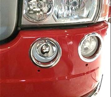 4 Anillos Decoración Luces Antiniebla delanteras de acero inoxidable para Scania Serie R camiones: Amazon.es: Coche y moto
