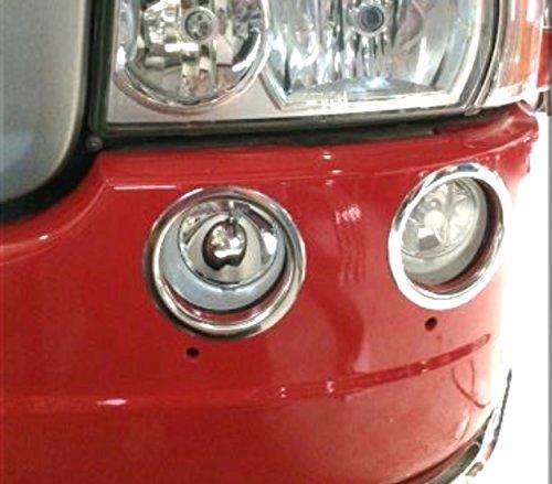 4 Anillos Decoració n Luces Antiniebla delanteras de acero inoxidable para Scania Serie R camiones CHSCAR4