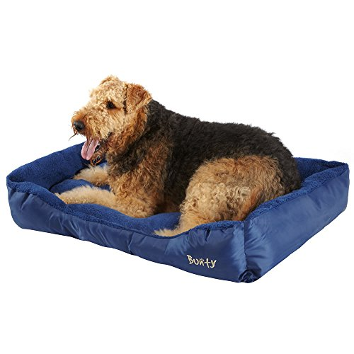 Bunty Deluxe Soft Washable Dog Pet Warm Basket Bed Cushion With Fleece Lining, Durable, Cosy, Machine Washable, Made In…