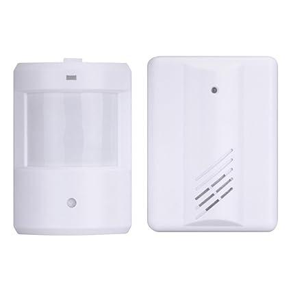 Wireless PIR Puerta Chime sistemas de alarma sensor de movimiento por infrarrojos Detector de alarma sistema