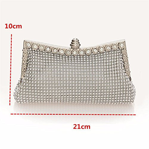 Bead Ladies Purse Women Black Day Beaded Bags Clutch ULKpiaoliang Bag Diamond Clutches Party Evening Wedding Bag Evening Banquet dRwqdBZ