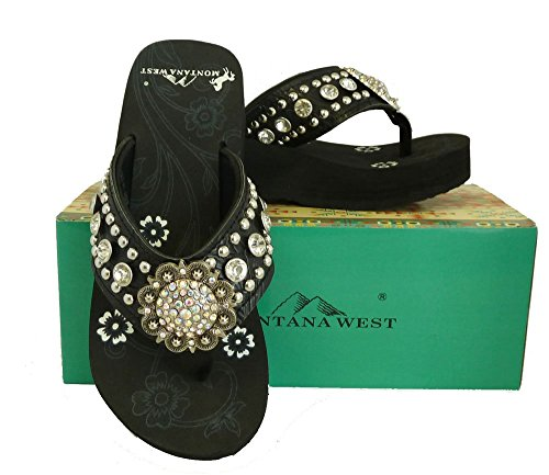 montana-west-ladies-flip-flops-large-rhinestones-floral-concho-black-9-m-us