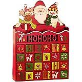 Calendrier de lAvent de Noël avec 24 tiroirs pour les décorations à ...