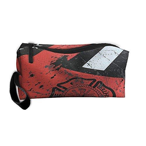 American Firefighter Thin Red Line Flag Axe Portable Handbag