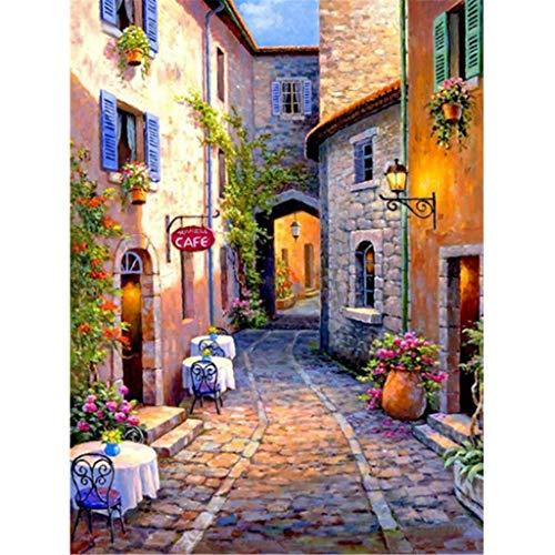 Paradise8 5D Embroidery Paintings Rhinestone Pasted DIY Diamond Painting Cross Stitch Full Diamond, Beautiful Scenery