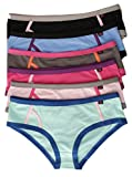 13127-XXXL-10 Just Intimates Cotton Panties / Boyleg Underwear (Pack of 6), Assorted