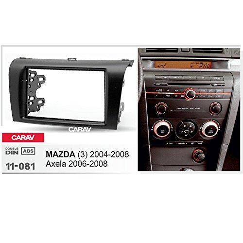 CARAV 11-081 2-DIN Marco de pl/ástico para Radio para Mazda 2004-2008; Axela 2006-2008 3