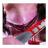 Cuchillo sangriento Herida Látex Teatro Calidad Disfraz Maquillaje