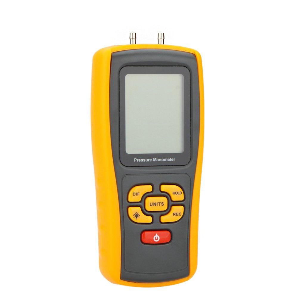 Pressure Monitor GM510, KKmoon Portable USB Digital LCD Pressure Manometer Gauge Differential Pressure Manometer Measuring Range 10kPa
