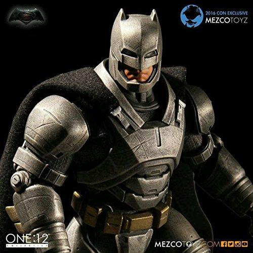 Toy, Play, Fun, MEZCO Armor Batman One : 12 Collective 15cm BJD PVC Super Hero Action Figure Toys for boys, Children, Kids, Game