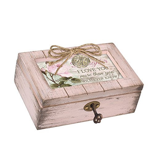Cottage Garden I Love You More Natural Taupe Wood Locket Box Music Box Plays How Great Thou Art