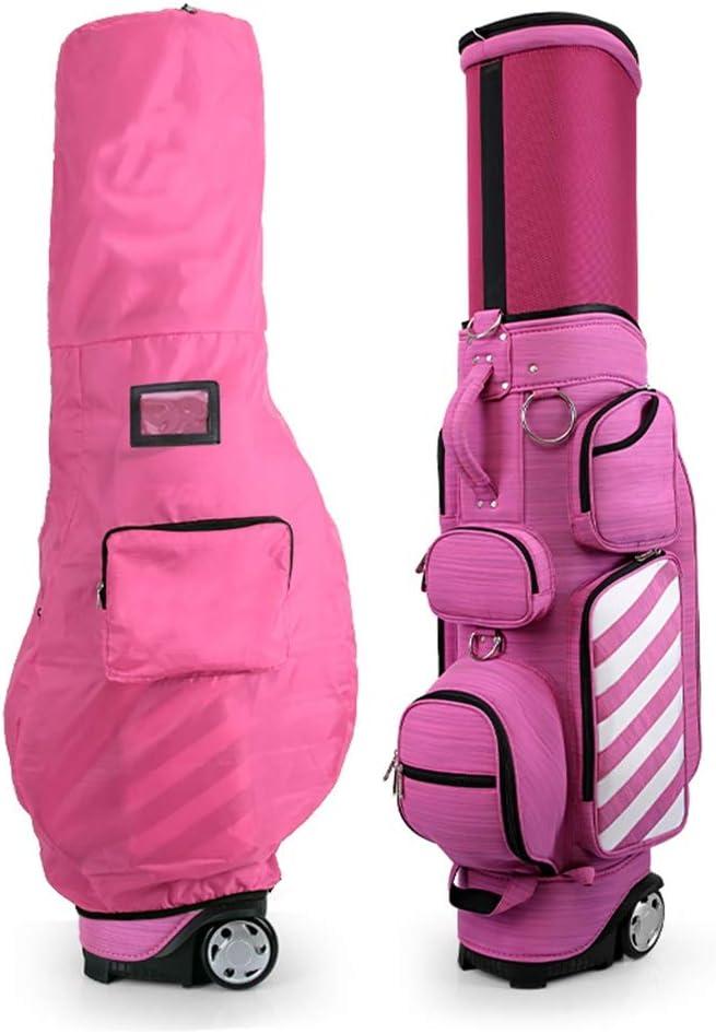 滑車の大容量の軽い携帯用ベルトが付いているゴルフバッグキューバッグの望遠鏡袋 (色 : A) A