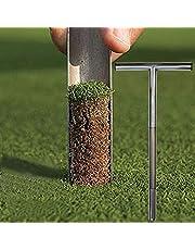 Bodem Sampler-Bodem Probe Met Metalen Tip-Rvs Tubular T-Stijl Handvat-Golf Veld Bemonstering aarde Turf Gazon Onderhoud Tool-Geweldig Voor Tuin Outdoor Farm