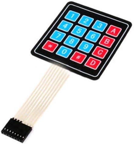 Taidacent 10 pcs Membrane Switch Keypad Button Module 1//2//3//4 Button IOT Button MCU Expansion Control Keyboard 3 Button