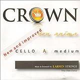 Crown 4/4 Cello String Set - Medium Gauge - Chromesteel/Steel - Ball End