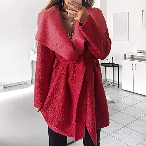 S Parka Z Itisme Garder Manteaux Femme Fourrure Femmes Chaud Chandail Hiver Fausse Mode Fourrure Outwear À Cardigan rouge Casual Grande 5xl Chic Capuche Manteau Taille z1zdWqrxgp
