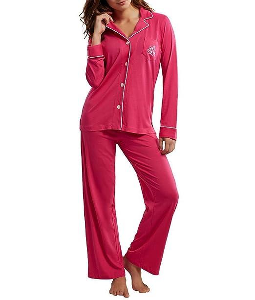Lauren by Ralph Lauren mujer de punto juego de pijama - Rosado -