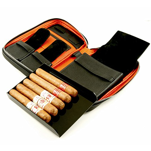 Luxury Genuine Leather CIGAR CASE by Cigar Star
