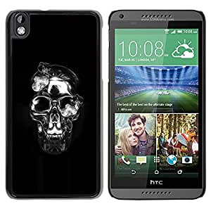 iBinBang / Funda Carcasa Cover Skin Case - Crystal Skull Black Silver Death Metal - HTC DESIRE 816