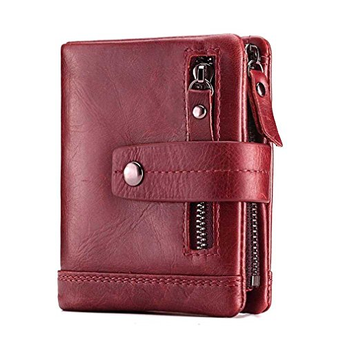 Genuine Small Red Purse Women Fashion Money Zipper Walet Wallet Leather And Coin Portomonee Mini Bag Female Lady dPaqTw