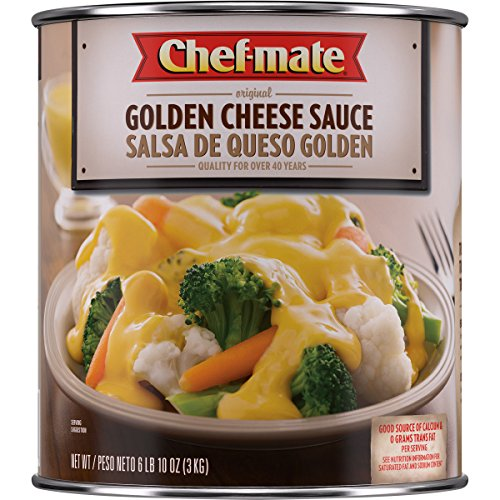 - Chef-mate Original Golden Cheese Sauce,  Nacho Cheese, Great for Macaroni and Cheese, 6 lb 10 oz, #10 Can Bulk