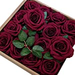 ETERNAL-ANGEL-Artificial-Flowers-Roses-Real-Looking-Dark-Red-Fake-Roses-Silk-Velvet-Flowers-with-Stem-for-DIY-Wedding-Bouquets-Centerpieces-Bridal-Shower-Arrangements-Party-Home-Decorations-16pcs