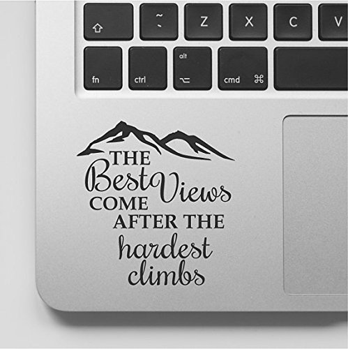 Decal & Sticker Pros Mountain Design Motivational Quote Decal Laptop Macbook Trackpad Keypad Sticker