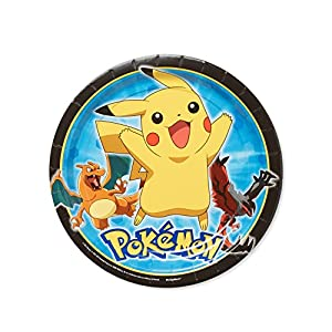 American Greetings Pokemon Round Plate (8 Count), 9""