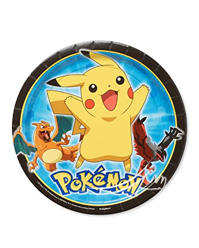 American Greetings Pokemon Round Plate (8 Count),
