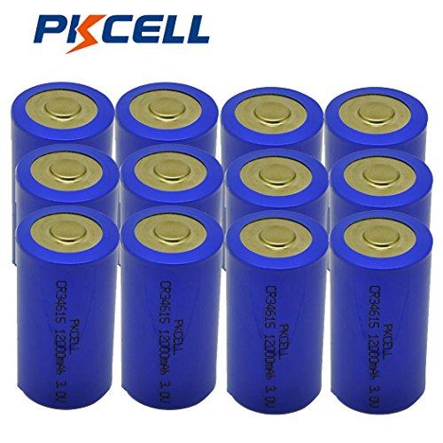 D Cell 3V CR34615 12000mAh Li/MonO2 Battery (12pc) by PK Cell
