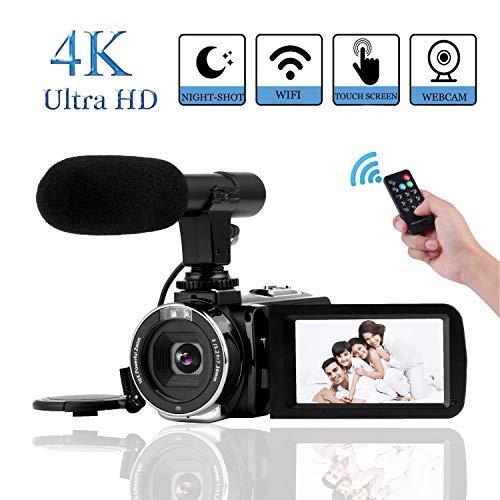 """15 opinioni per Videocamera 4K Fotocamera da 30 MP Wifi Ultra HD 4K 3.0""""Videocamera Digitale"""