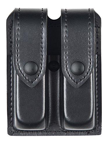Safariland Duty Gear Glock 17, 22, Black Snap Double Handgun Magazine Pouch (Plain Black)