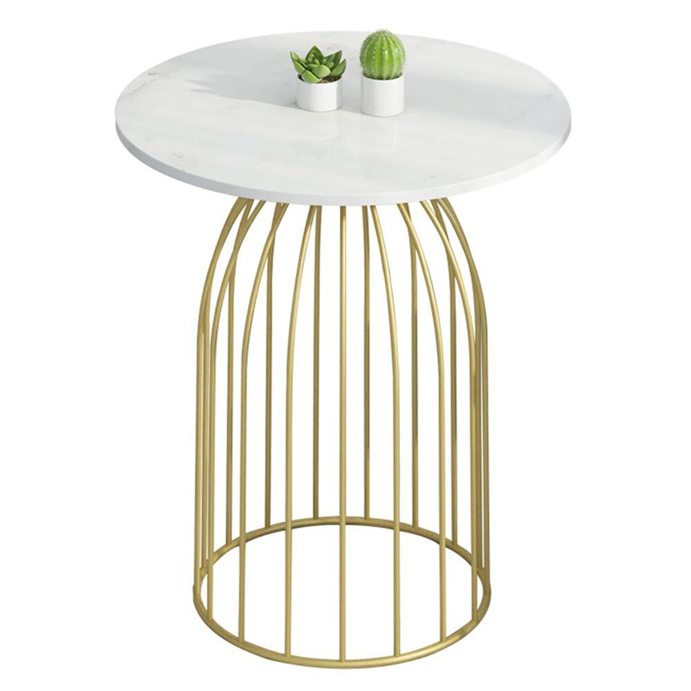 CHUNLAN 折り畳みテーブル 大理石のサイドテーブルのソファーの錬鉄の小さい円形のテーブルのバルコニーのコーヒーテーブルの居間のテーブル、50 * 60cm、60 * 70cm (サイズ さいず : 60*70cm) B07MB3KN9L  60*70cm