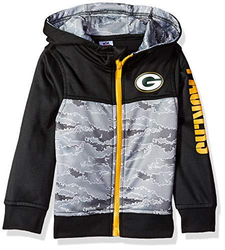 NFL Green Bay Packers Unisex Hooded Jacket, Black, 3T