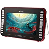 9.8 inch TFT LCD Screen Digital Multimedia Portable TV & DVD Player with Holder, Support USB, TF card, AV Function