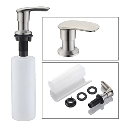 Sink Soap Dispenser WENKEN Stainless Steel Kitchen Sink Countertop Soap  Dispenser Built In Hand Soap Dispenser