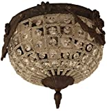 Egypt gift shops HANDMADE French Empire Ceiling Flush Mount Garland Bronze Finish Brass Crystal Lamp Light Ceiling Chandelier CRS111