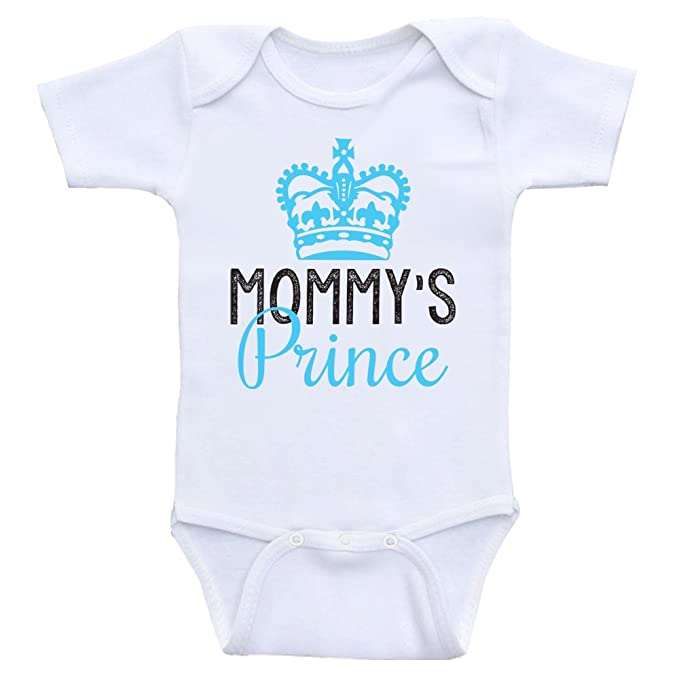 4c5df141f7c8e Heart Co Designs Cute Baby Boy Clothes Mommy's Prince Baby Onesie for Boys  (3mo-