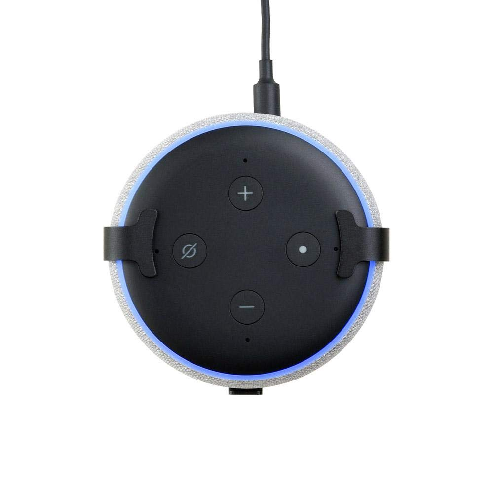 スピーカーマウントスタンドホルダー Amazon Echo Dot 3用 コンセント壁マウントホルダーケース ハンガーシェルフアクセサリー スマートホームスピーカー用ソリューション 壁掛けホルダー キッチン バスルーム 寝室用 B07NL2B3NH
