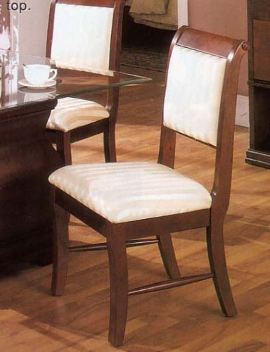 2 Cherry Finish Louis Phillipe Wood Dining Side Chairs w/Padded ()