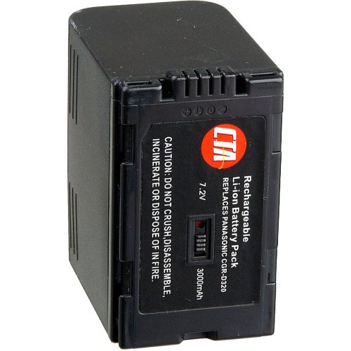CTA Digital DB-D320 CGR-D320 Rechargeable Lithium-Ion Battery (3000mAh, 7.2V) Replacement for Panasonic CGR-D320 Battery