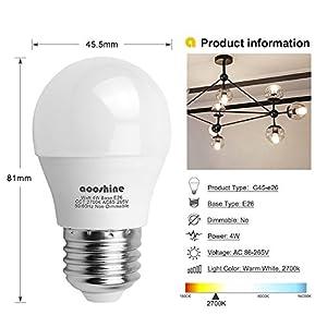 J Lumi Bpc4505 Led Bulb 5w A15 Bulb G45 Bulb Shape 40