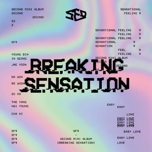 SF9 - [Breaking Sensation] 2nd Mini Album CD+Photo Book +1p Photo Card Kpop Sealed