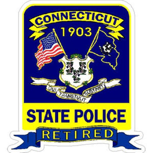 State Police Decals - MAGNET 4 Inch Connecticut State Police Trooper Retired Magnetic Sticker Decal Size: 4x4 Inches