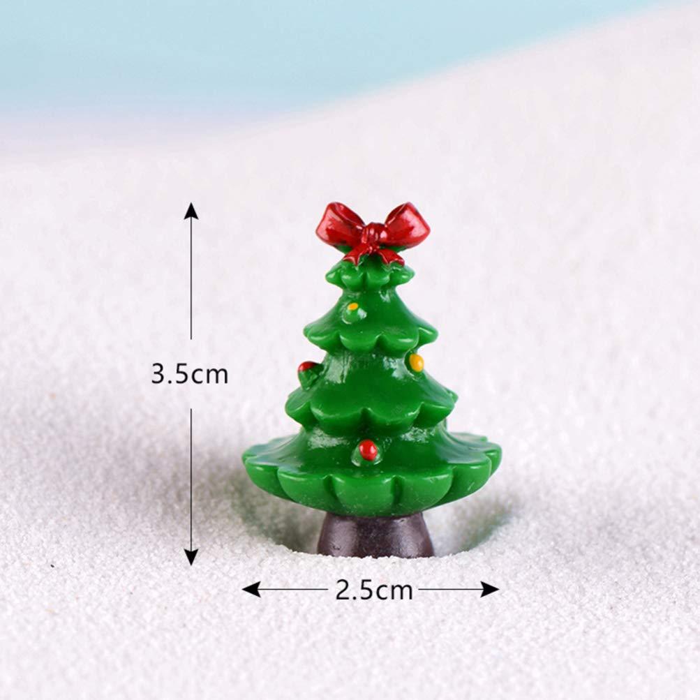 DOITOOL 7 Piezas Mini Decoraciones de /árboles de Navidad Adornos de /árboles de Navidad en Miniatura Micro Paisaje Adornos de Escena de Nieve para Decoraciones de Navidad para decoraci/ón