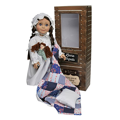Doll Rag Cap - The Queen's Treasures Officially Licensed Little House on the Prairie Laura Ingalls 18 Inch Doll. Includes Quilt/Pillow, Rag Doll, Nightgown, Cap and a Log Cabin Keepsake Box. Fits American Girl Doll.